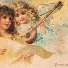 Postales: POSTAL ANGELES NIÑOS CON LAUD Y PARTITURA. UNION POSTAL UNIVERSAL. SIN CIRCULAR. Lote 53956042