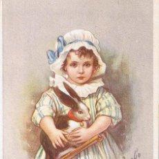 Postales: POSTAL 428-5 E. COLOMBO. NIÑA CON JUGUETE. IM. EN ITALIA. CIRCULADA 1922. Lote 54040874