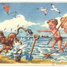 Postales: POSTAL CIRCULADA - 1955 - NIÑOS - PERRO. Lote 54102520