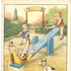 Postales: POSTAL CIRCULADA - 1955 - NIÑOS - PERRO. Lote 54127113