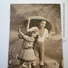 Postales: POSTAL ANTIGUA INFANTIL. ED. AMAG 0131/2. ESCRITA 1914. Lote 54202288