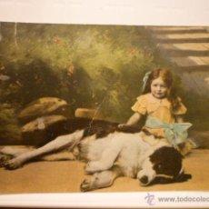 Postales: POSTAL INFANTIL ESCRITA 1914 CON SELLO ALFONSO XIII MATASELLADO.. Lote 54327497