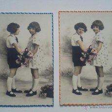 Postales: LOTE DE 2 POSTALES ANTIGUAS DE NIÑAS.. Lote 54561745