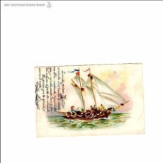 Postales: BONITA POSTAL BARCO - CIRCULADA 1904 INCREÍBLE ESCRITURA A PLUMA-. Lote 54704821