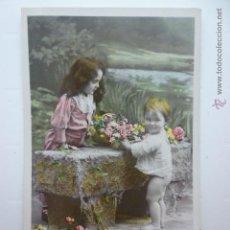 Postales: POSTAL INFANTIL COLOREADA. ED. IRIS 2058. SAZERAC FOTO. ESCRITA 1910.. Lote 54748926