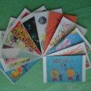 Postales: 12 TARJETAS POSTALES DE LA LOTERÍA NACIONAL. IDEAS DIBUJADAS POR LOS NIÑOS DE SAN ILDEFONSO DE 1971. Lote 54771959
