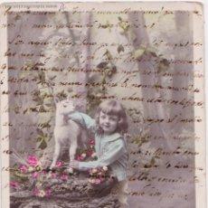 Postales: P- 4398. POSTAL FOTOGRAFICA NIÑA AÑOI 1909. V B C SERIE Nº 3620.. Lote 54798296