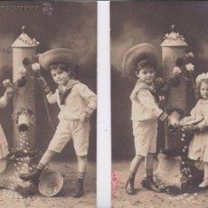 Postales: P- 4481. PAREJA DE POSTALES FOTOGRAFICAS DE NIÑOS. . Lote 54871246