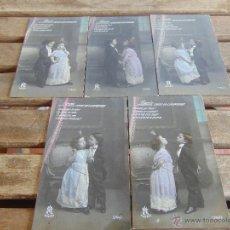 Postales: LOTE DE 5 POSTALES TARJETA POSTAL NUMERADAS DEL 1 AL 5 PEQUEÑO CONDE DE MONTECRISTO SIN CIRCULAR. Lote 54925789