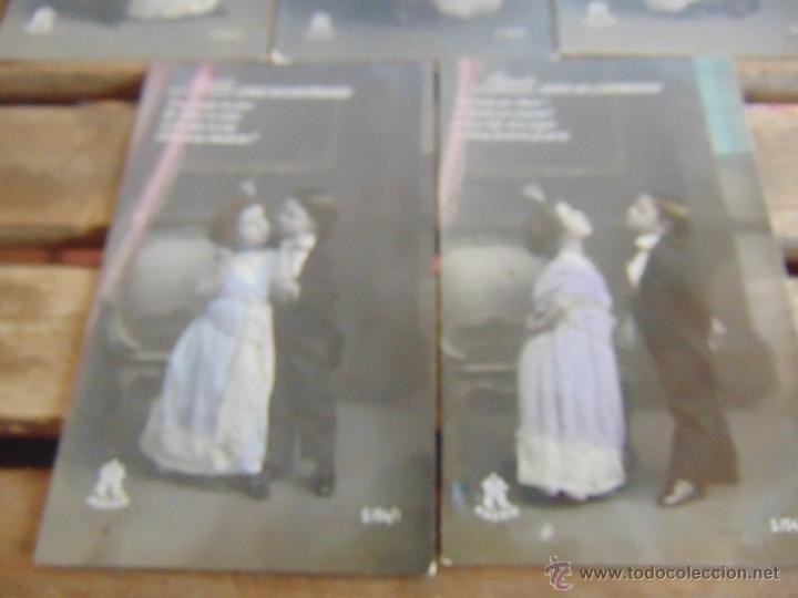 Postales: LOTE DE 5 POSTALES TARJETA POSTAL NUMERADAS DEL 1 AL 5 PEQUEÑO CONDE DE MONTECRISTO SIN CIRCULAR - Foto 3 - 54925789