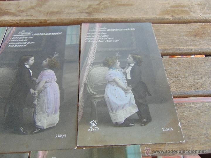 Postales: LOTE DE 5 POSTALES TARJETA POSTAL NUMERADAS DEL 1 AL 5 PEQUEÑO CONDE DE MONTECRISTO SIN CIRCULAR - Foto 4 - 54925789
