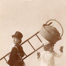 Postales: SIMPATICA POSTAL DE NIÑOS CIRCULADA Y FECHADA EN 1908. Lote 55044510