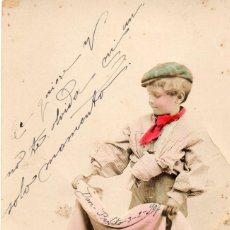 Postales: UNA VERÓNICA EN REGLA, POSTAL NIÑO CIRCULADA Y SELLADA SOBRE 1908. Lote 55044877