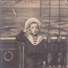 Postales: P- 4777. POSTAL FRANCESA L' APPEL IX. NIÑO DE MARINERO. 1902.. Lote 55305977
