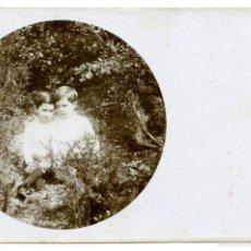 Postales: VILADRAU, POSTAL FOTOGRÁFICA DE DOS NIÑOS,1941. Lote 55700883