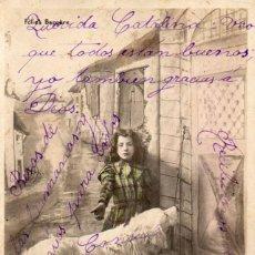 Postales: LA PRINCESSE LILETTE ET SES CHIENS - LE CHIEN DE L`HOSPITAL - CIRCULADA 1905. Lote 55859102