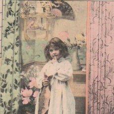 Postales: UNA NIÑA, CIRCULADA EN 1906. Lote 56260039