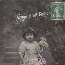 Postales: UNA NIÑA, CIRCULADA EN 1903. Lote 56260270