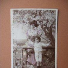 Postales: FOTOPOSTA , MADRE E HIJO- 1910. Lote 56542620