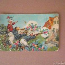 Postales: POSTAL, CONFILETADOS DORADOS, NIÑO JUGADO. 1909. Lote 57051929