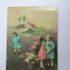 Postales: 1933 NIÑOS RECUERDOS POSTAL COLOREADA MEMORIES CHILDREN COLORED POSTAL SOUVENIRS ENFANTS COLORED POS. Lote 57551159