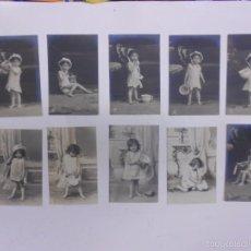Postales: LOTE 10 POSTALES ANTIGUAS DE NIÑOS.EN TRASERA LOTERIA DE LA PELUQUERIA CEBADO 1906.SIN CIRCULAR. Lote 57856020