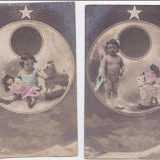 Postales: P- 6014. PAREJA DE POSTALES FOTOGRAFICAS NIÑOS . 7088/ 1 Y 3.. Lote 57867643