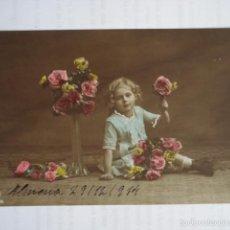 Postales: POSTAL INFANTIL COLOREADA. ED. AMAG 60894/6. ESCRITA 1914.. Lote 58587578