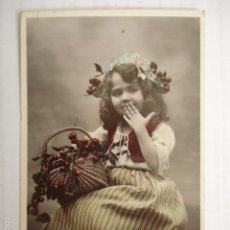 Postales: POSTAL INFANTIL FRANCESA. FOTOGRAFIA SAZERAG. SERIE 85. ESCRITA 1909.. Lote 58651391