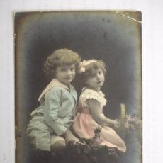 Postales: POSTAL INFANTIL COLOREADA. ESCRITA.. Lote 58666445