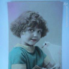 Postales: POSTAL INFANTIL NIÑA CON PALOMA. ED. JOS 190. ESCRITA 1922.. Lote 58694734