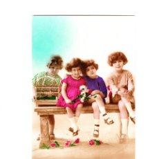 Postales: POSTAL NIÑOS FECHADA EL 19 DE MARZO DEL 36. Lote 61685468