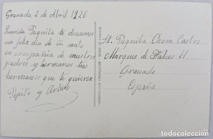 Postales: POSTAL ANTIGUA COLOREADA. NIÑAS CON ROSAS. M PARÍS Nº300. AÑOS 20 - Foto 2 - 62390776
