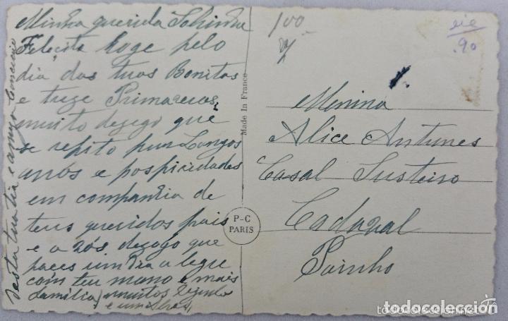 Postales: POSTAL ANTIGUA COLOREADA. NIÑA AL PIANO. PC PARÍS Nº 3596. PRINCIPIOS SIGLO XX - Foto 2 - 62394652