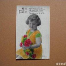 Postales: NIÑO,ANTIGUA POSTAL COLOREADA ,CON POESIA, AÑOS 30. Lote 62485588