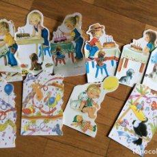 Postales: 10 INVITACIONES PARA CUMPLEAÑOS PINTADAS POR CONSTANZA. Lote 64843355