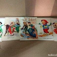 Postales: LOTE DE 5 ANTIGUAS POSTALES INFANTILES -- AÑOS 30?? 40??. Lote 65028927