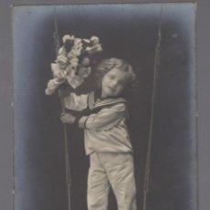 Postales: POSTAL MODERNISTA 1912 NIÑO PRIMERA COMUNION. Lote 65088987