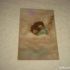 Postales: PRECIOSA POSTAL DE DOS ANGELITOS . NOYER 1921 . ESCRITA , NO CIRCULADA. Lote 67215785