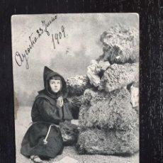 Postales: ANTIGUA POSTAL DEL AZCOITIA 1909 - POSTAL DE NIÑO VESTIDO DE FRAILE O MONAGUILLO - ALTEROCCA TERNI. Lote 67741021