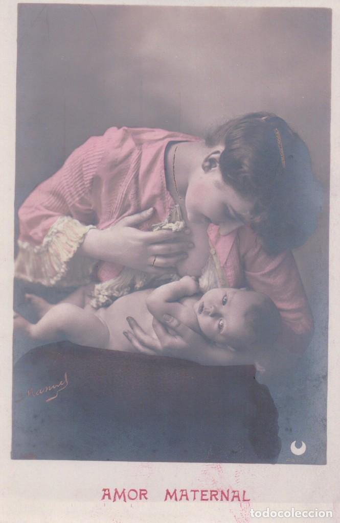 Postal Fotografica Amor Maternal Retrato Madr Comprar Postales