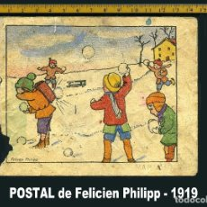 Postales: FELICIEN PHILIPP 1919 POSTAL. Lote 68398293