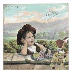 Postales: ANTIGUA POSTAL CIRCULADA 1903 - REVERSO SIN DIVIDIR - ED. E.S.D. SERIE 658 - NIÑA. Lote 70178337