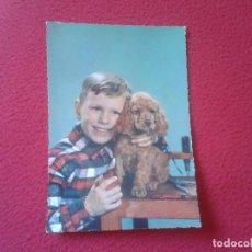 Postales: POSTAL POST CARD CARTE POSTALE POSTCARD NIÑO CON PERRO. BOY WITH DOG. IDEAL COLECCION. VER FOTO/S . Lote 70244325