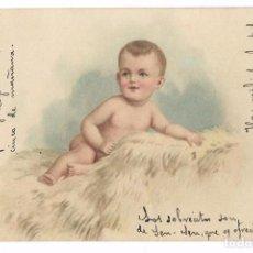 Postales: ANTIGUA POSTAL CIRCULADA 1902 - NIÑO COLOR - Nº 1122 - REVERSO SIN DIVIDIR. Lote 73045403