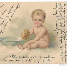 Postales: ANTIGUA POSTAL CIRCULADA 1902 - NIÑO COLOR - Nº 1120 - REVERSO SIN DIVIDIR. Lote 73045575