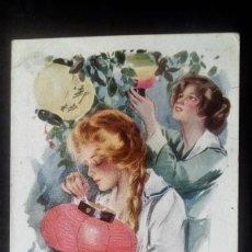 Postales: ANTIGUA POSTAL, JUSTO Y MAS CALIDO, AÑO 1947, ESCRITA. Lote 74959251