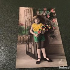 Postales: ANTIQUÍSIMA TARJETA POSTAL COLOREADA - NIÑA- ESCRITA 1931. Lote 77931865