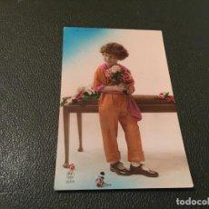 Postales: ANTIQUÍSIMA TARJETA POSTAL COLOREADA - NIÑA - ES CRITA 1927. Lote 77932133