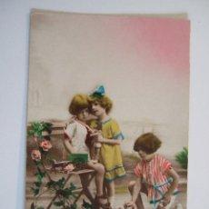 Postales: POSTAL NIÑOS CON JUGUETES - ESCRITA 1925 SIN CIRCULAR. Lote 78267705